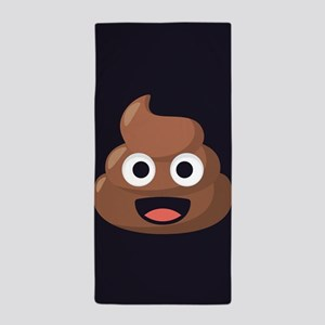Poop Emoji Beach Towel