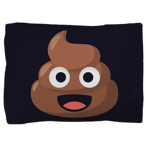 Poop Emoji Pillow Sham