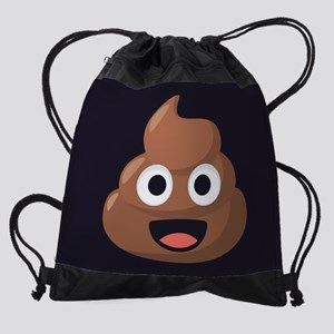 Poop Emoji Drawstring Bag