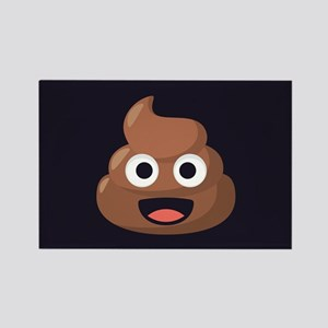 Poop Emoji Rectangle Magnet