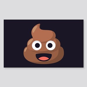 Poop Emoji Sticker (Rectangle)