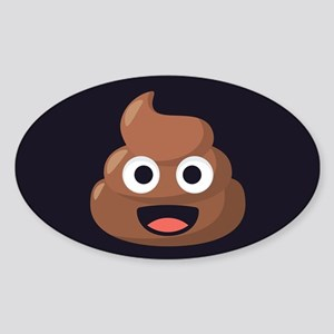 Poop Emoji Sticker (Oval)