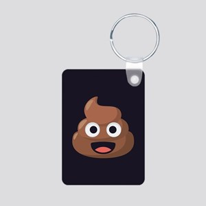 Poop Emoji Aluminum Photo Keychain