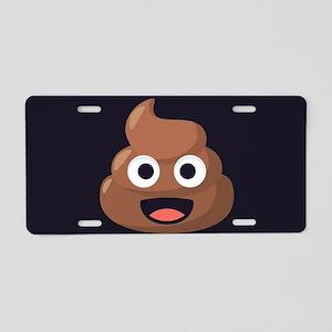 Poop Emoji Aluminum License Plate