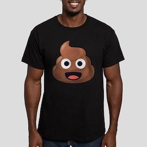 Poop Emoji Men's Fitted T-Shirt (dark)