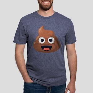 Poop Emoji Mens Tri-blend T-Shirt
