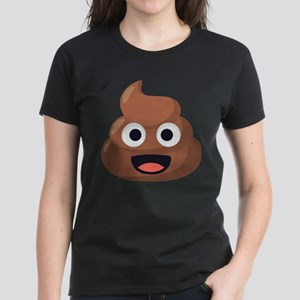 Poop Emoji Women's Dark T-Shirt