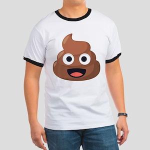 Poop Emoji Ringer T