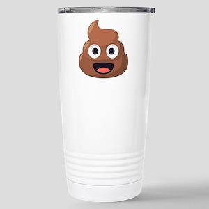 Poop Emoji 16 oz Stainless Steel Travel Mug