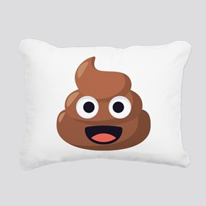 Poop Emoji Rectangular Canvas Pillow