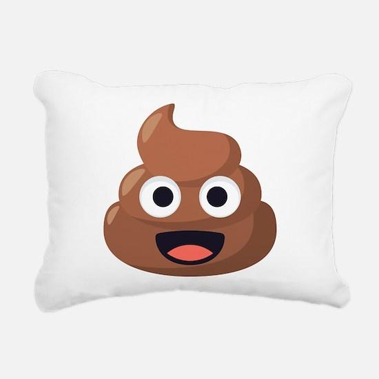 Poop Emoji Rectangular Canvas Pillow