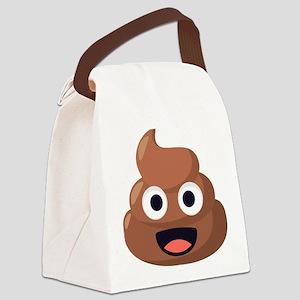 Poop Emoji Canvas Lunch Bag