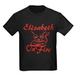 Elizabeth On Fire Kids Dark T-Shirt