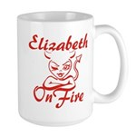 Elizabeth On Fire Large Mug