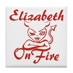Elizabeth On Fire Tile Coaster