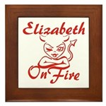 Elizabeth On Fire Framed Tile