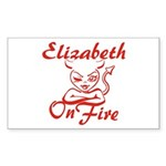Elizabeth On Fire Sticker (Rectangle)