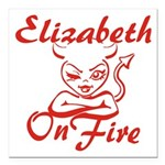 Elizabeth On Fire Square Car Magnet 3