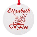 Elizabeth On Fire Round Ornament