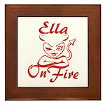 Ella On Fire Framed Tile