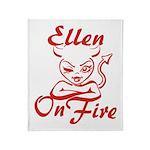 Ellen On Fire Throw Blanket