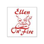 Ellen On Fire Square Sticker 3
