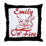 Emily On Fire Throw Pillow