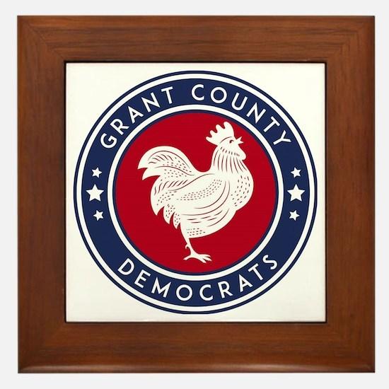 Cute Democrat Framed Tile