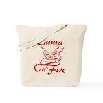 Emma On Fire Tote Bag