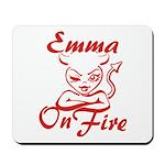 Emma On Fire Mousepad