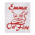 Emma On Fire Throw Blanket