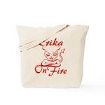 Erika On Fire Tote Bag