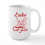 Erika On Fire Large Mug