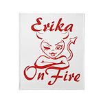 Erika On Fire Throw Blanket