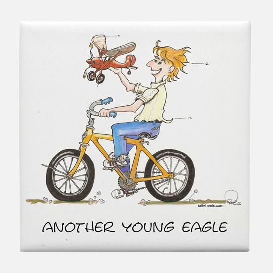 Another Young Eagle 2 Tile Coaster