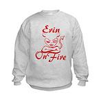 Erin On Fire Kids Sweatshirt