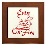 Erin On Fire Framed Tile