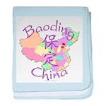 Baoding China Map baby blanket