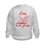 Eva On Fire Kids Sweatshirt