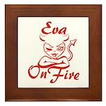 Eva On Fire Framed Tile