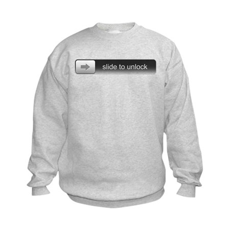 Slide To Unlock Kids Sweatshirt