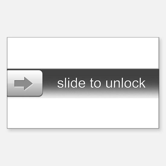 Slide To Unlock Sticker (Rectangle)