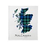 Map-MacLaggan Throw Blanket