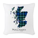 Map-MacLaggan Woven Throw Pillow