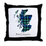Map-MacLaggan Throw Pillow