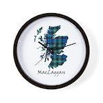 Map-MacLaggan Wall Clock