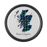 Map-MacLaggan Large Wall Clock