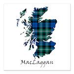 Map-MacLaggan Square Car Magnet 3