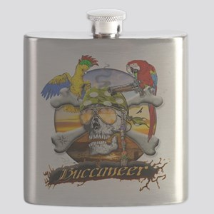 Pirate Parrots Flask