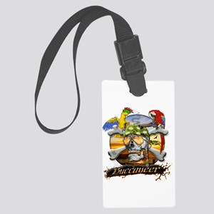 Pirate Parrots Large Luggage Tag